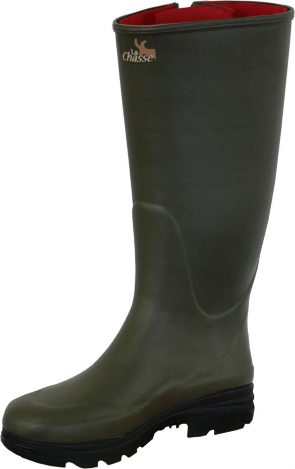 La Chasse® Neoprene-Gummistiefel mit Reißverschluss Neoprenestiefel Jagdstiefel